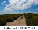 ten mile lagoon wind farm is... | Shutterstock . vector #1333276193