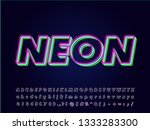 layer neon font effect isolated ... | Shutterstock .eps vector #1333283300