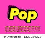 strong bold pop art font effect | Shutterstock .eps vector #1333284323