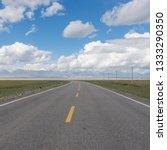 snow mountain prairie highway    Shutterstock . vector #1333290350
