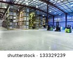 large modern warehouse with... | Shutterstock . vector #133329239