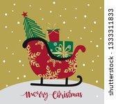 santa sleigh design with...   Shutterstock .eps vector #1333311833
