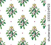 seamless mistletoe design with...   Shutterstock .eps vector #1333314923
