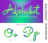 3d vector alphabet with rounded ...   Shutterstock .eps vector #1333327529