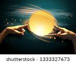 finger touching lamp    ... | Shutterstock . vector #1333327673