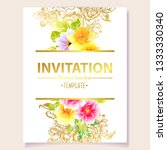 invitation greeting card with... | Shutterstock .eps vector #1333330340