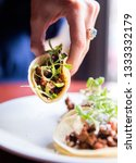 delicious tacos with lime juice ... | Shutterstock . vector #1333332179