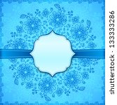 blue flowers ornate vector... | Shutterstock . vector #133333286
