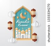 ramadan kareem background... | Shutterstock .eps vector #1333334270