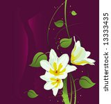 vector grunge floral background   Shutterstock .eps vector #13333435