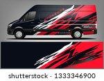 van wrap livery design. ready ... | Shutterstock .eps vector #1333346900