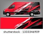 van wrap livery design. ready ... | Shutterstock .eps vector #1333346909