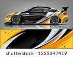 car decal wrap design vector.... | Shutterstock .eps vector #1333347419