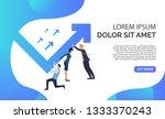 business people pushing arrow... | Shutterstock .eps vector #1333370243