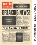 breaking news newspaper... | Shutterstock .eps vector #1333372826