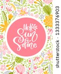 flower greeting card with text... | Shutterstock . vector #1333376903