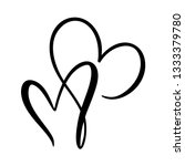 calligraphic love heart sign....   Shutterstock . vector #1333379780