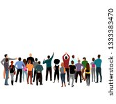 people stand back. group of... | Shutterstock .eps vector #1333383470