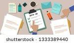 new year resolution target... | Shutterstock .eps vector #1333389440