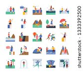 travel and tourists... | Shutterstock .eps vector #1333392500