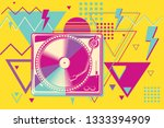 80s disco funky colorful music...   Shutterstock .eps vector #1333394909