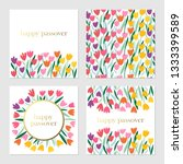 passover holiday cute greeting... | Shutterstock .eps vector #1333399589