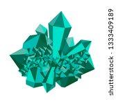 Emerald Stone Rough. Cluster...