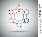 connected cell.the hexagonal... | Shutterstock .eps vector #133341473