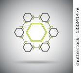 connected cell.the hexagonal... | Shutterstock .eps vector #133341476