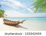 view of nice tropical  beach ... | Shutterstock . vector #133342454