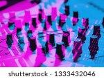 dj midi controller device for... | Shutterstock . vector #1333432046
