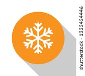 whitesnowflake icon isolated on ... | Shutterstock .eps vector #1333434446