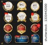 luxury premium golden badges... | Shutterstock .eps vector #1333442000