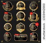 luxury premium golden badges... | Shutterstock .eps vector #1333442003