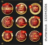 luxury premium golden badges... | Shutterstock .eps vector #1333442006