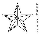 star five corners pentagonal... | Shutterstock .eps vector #1333451156