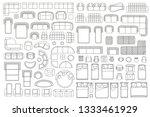 vector linear set. interior... | Shutterstock .eps vector #1333461929