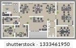 vector illustration. office.... | Shutterstock .eps vector #1333461950