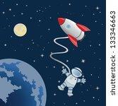 astronaut in space | Shutterstock . vector #133346663