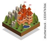 castle. isometric. isolated on... | Shutterstock .eps vector #1333476566