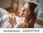 fresh coffee for good morning.... | Shutterstock . vector #1333477919