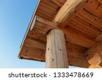 roof of the russian wooden bath ... | Shutterstock . vector #1333478669