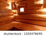 russian wooden sauna steam room ... | Shutterstock . vector #1333478690