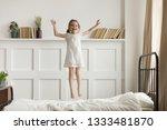 happy funny little child girl... | Shutterstock . vector #1333481870