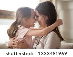 cute little kid girl embracing... | Shutterstock . vector #1333481969