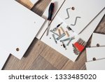 top view of furniture parts for ... | Shutterstock . vector #1333485020