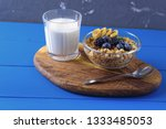 granola with berries and fruits ... | Shutterstock . vector #1333485053
