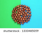 pile macadamia nuts in the... | Shutterstock . vector #1333485059
