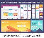 online flight booking app... | Shutterstock .eps vector #1333493756