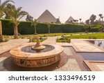 fountain and swimming pool with ...   Shutterstock . vector #1333496519